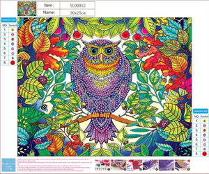 Owl In The Jungle - Special Diamond Painting