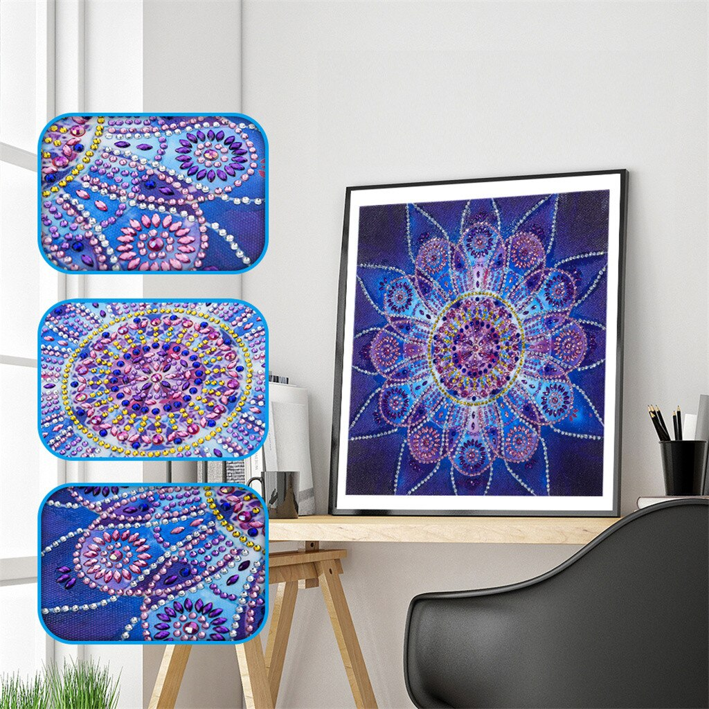 Abstract Mandala Flower - Special Diamond Painting