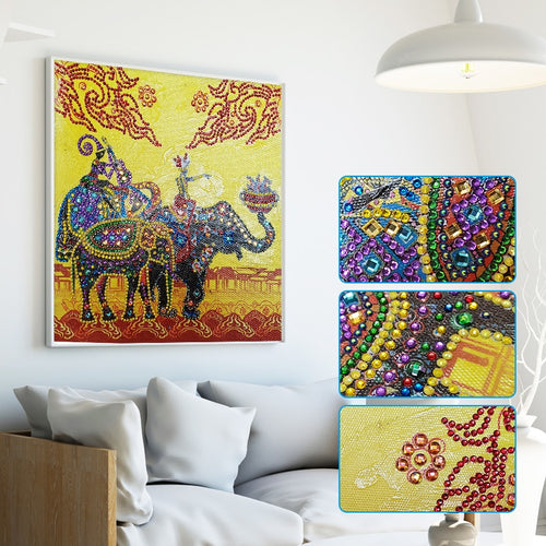 Indian Royal Elephant - Special Diamond Painting