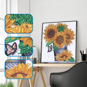Vase of Sunflowers - Special Diamond Painting