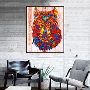 Ancient Mythical Wolf - Special Diamond Painting