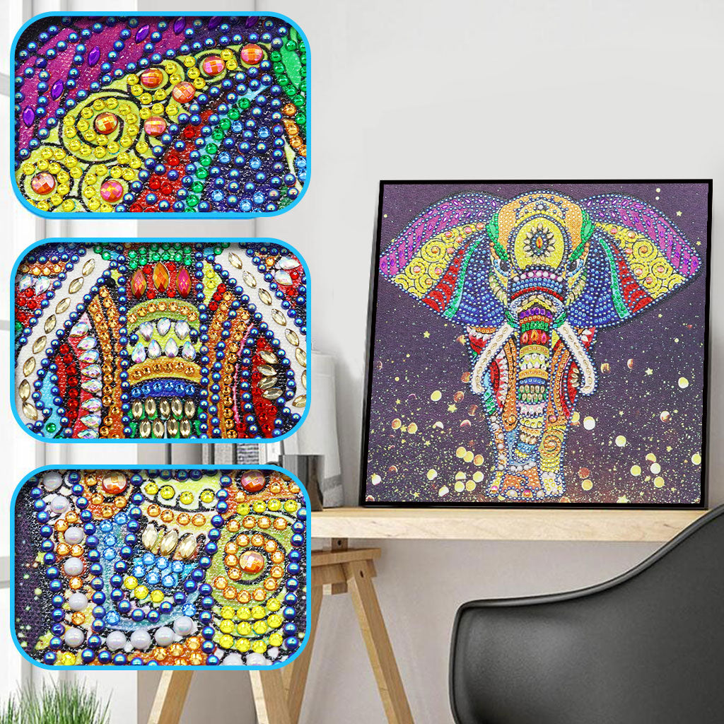 Colorful Elephant - Special Diamond Painting