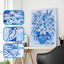 Load image into Gallery viewer, White Flower Vase - Special  Diamond Painting