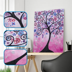 Pink Abstract Tree - Special Diamond Painting