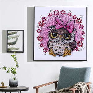 Cute Owl - Special Diamond Painting