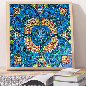 Blue Flower - Special Diamond Painting