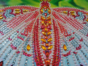 A Red Monarch Butterfly - Special Diamond Painting