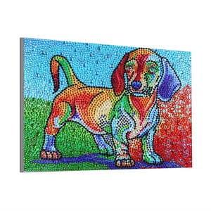 Colorful Puppy - Special Diamond Painting