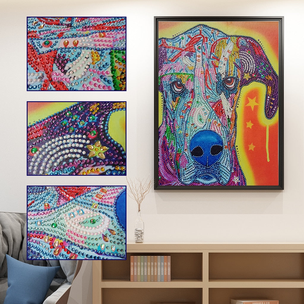 Abstract Dog - Special Diamond Painting