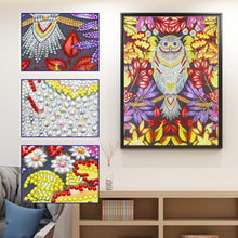 Load image into Gallery viewer, Flower Owl - Special Diamond Painting