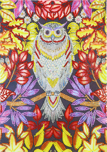 Flower Owl - Special Diamond Painting