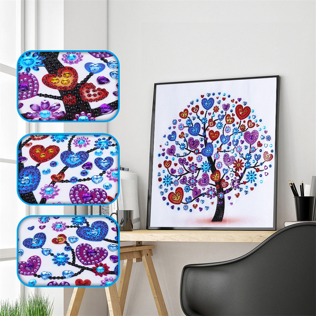 Heart Flower Tree - Special  Diamond Painting