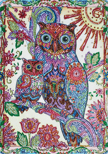 Abstract Owl Family - Special Diamond Painting