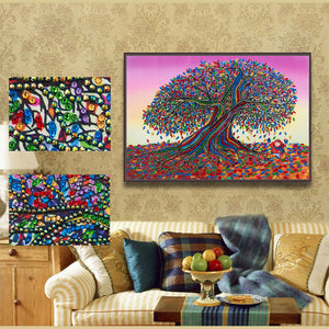 Colorful Flower Tree - Special Diamond Painting