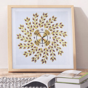 Leaf Wall Clock - Special Diamond Painting