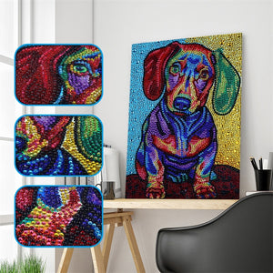 Colorful Dog - Special Diamond Painting