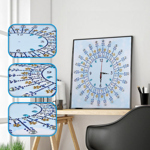 White Clock - Special Diamond Painting