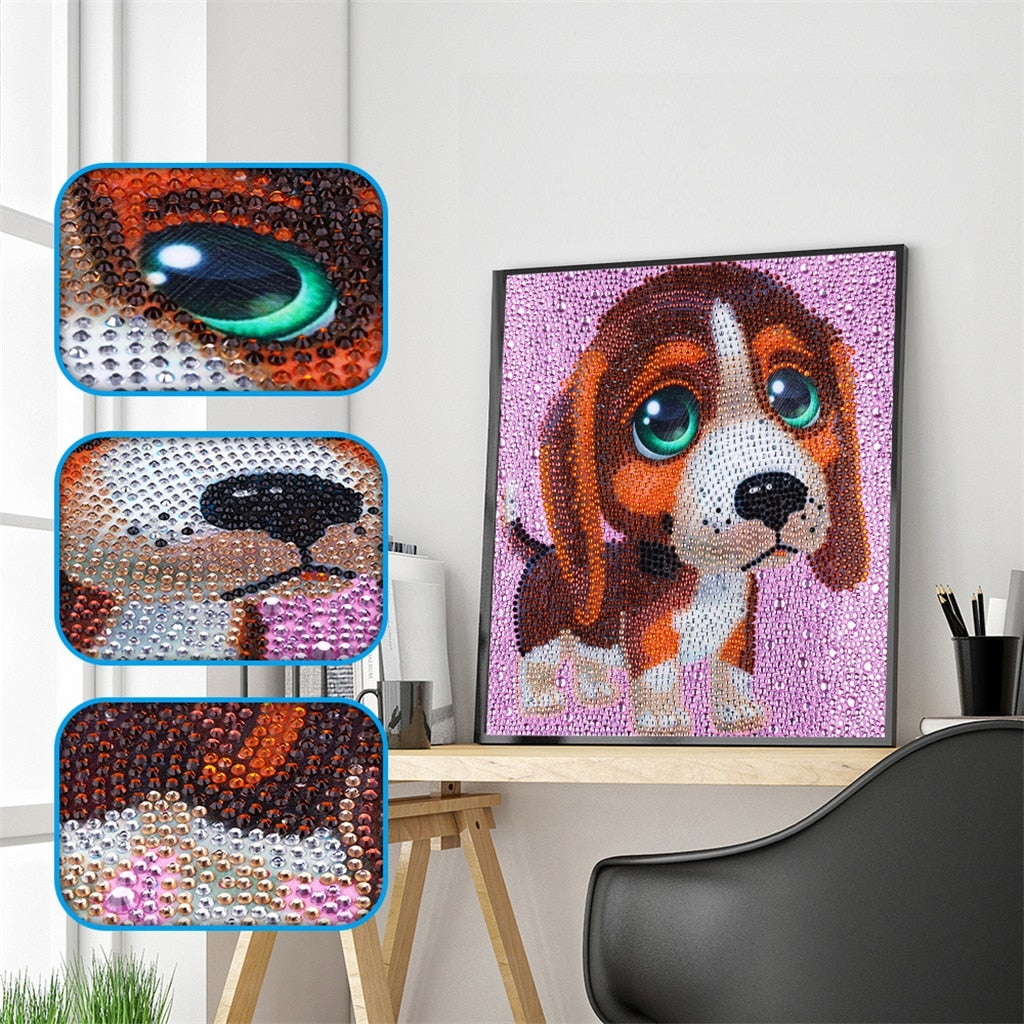 Cute Brown Dog - Special Diamond Painting