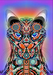 Abstract Cat - Special Diamond Painting