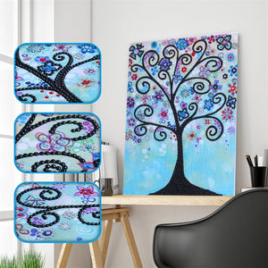 Blue Abstract Trees - Special Diamond Painting