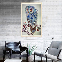 Load image into Gallery viewer, Blue Owl on Tree  - Special Diamond Painting