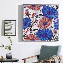 Load image into Gallery viewer, Blue Flowers Special Diamond Painting