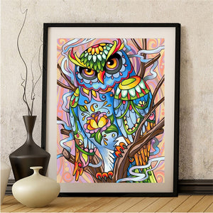 Abstract Owl - Special Diamond Painting