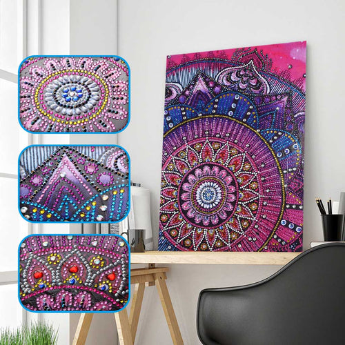 Purple Mandala Flower Special Diamond Painting