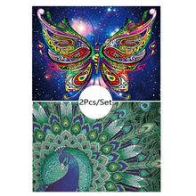 Load image into Gallery viewer, Peacock & Butterfly - Special Diamond Painting