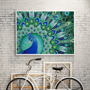 Peacock & Butterfly - Special Diamond Painting