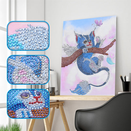 Cat on the Tree - Special Diamond Painting