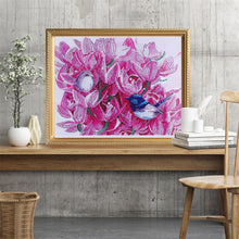 Load image into Gallery viewer, Birds Chirping on Pink Flowers