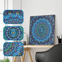 Load image into Gallery viewer, Blue Mandala Special Diamond Painting