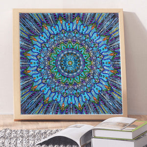 Blue Mandala Special Diamond Painting