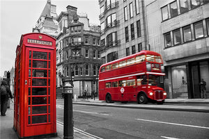 Beautiful Red Phone Booths