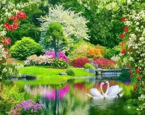 Natural Beautiful Garden Painting