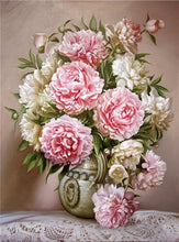 Load image into Gallery viewer, Elegant Flowers Diamond Painting
