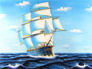 Stunning View of Ships Diamond Painting Kits