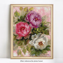Load image into Gallery viewer, Rose with Vase Painting by Diamonds