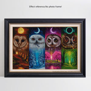 Colorful Night Owls Diamond Painting