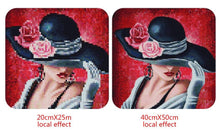Load image into Gallery viewer, Girl with Hats Portrait - Diamond Painting