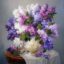 Load image into Gallery viewer, Lavender Flowers in a Vase Diamond Painting Kit
