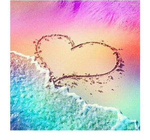 Attractive Heart on the Beach Diamond Painting