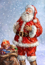 Load image into Gallery viewer, Huge Santa with Owl Diamond Painting Kits for Adults