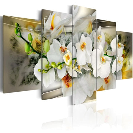 Beautiful Flowers 5 Piece Diamond Painting Kits