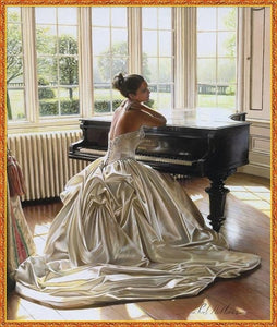 Waiting Bride and Piano Painting Kit for Adults