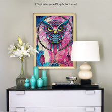 Load image into Gallery viewer, Colorful Big Dream Catcher Owl