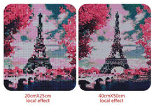 Load image into Gallery viewer, Eiffel Tower Covered in Pink Plants
