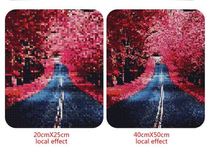 Long Road in Beautiful Forest Diamond Painting Kit