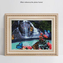 Load image into Gallery viewer, Waterfall & Buterflies